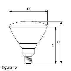 Lâmpadas incandescentes IR100R PAR38