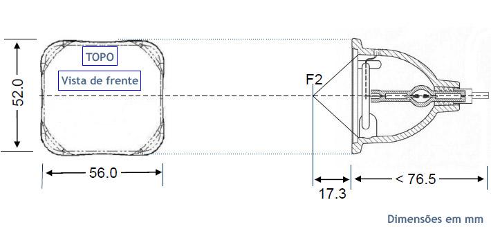 Lâmpada P-VIP 150/1.3 E21.5a