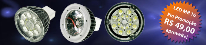 Lâmpadas SUPER LED MR16 Industriais