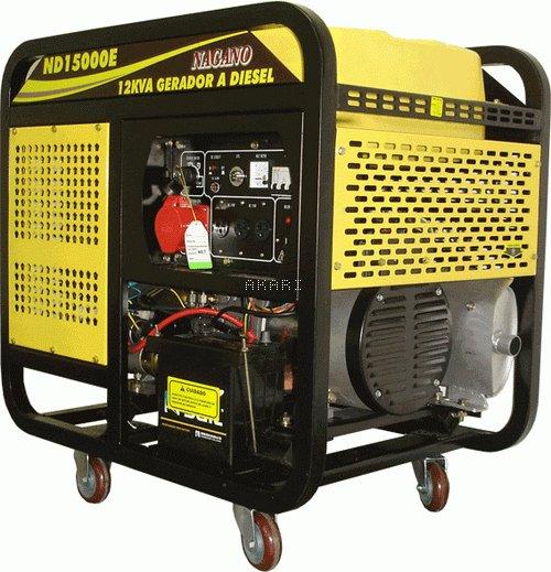 ND15000E - Gerador a diesel 12 kva monofásico partida elétrica