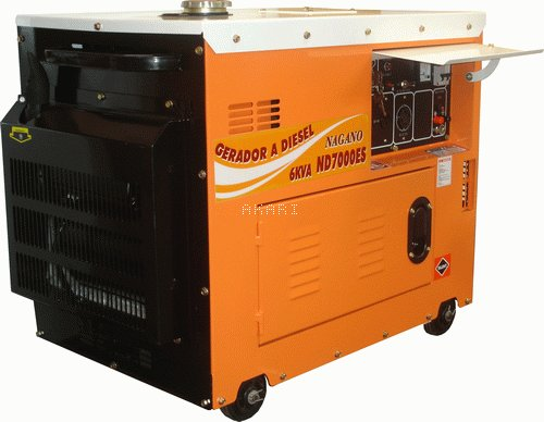 ND7000ES - Gerador a diesel monofásico 6.0 kva partida elétrica silenciado