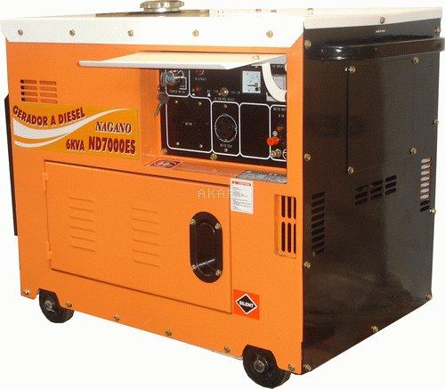 ND7000ESQTA - Gerador a diesel monofásico 6.0 kva partida elétrica silenciado cabinado com QTA
