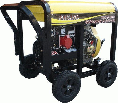 ND7000E3 - Gerador a diesel trifásico 6 kva partida elétrica