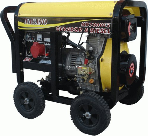 ND7000E3QTA - Gerador a diesel trifásico 6 kva partida elétrica QTA