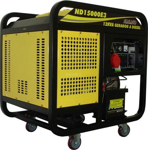 ND15000E3 - Gerador à diesel 12 kva trifásico partida elétrica
