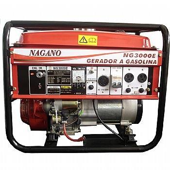 NG3000 - Gerador à gasolina 3 kva monofásico partida manual