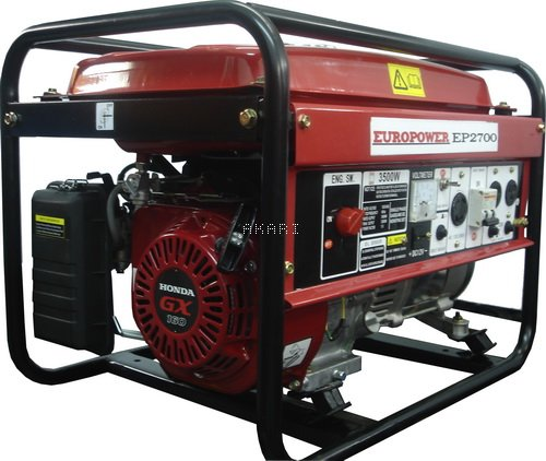 EP2700 - Gerador à gasolina 3 kva monofásico partida manual motor Honda GX160