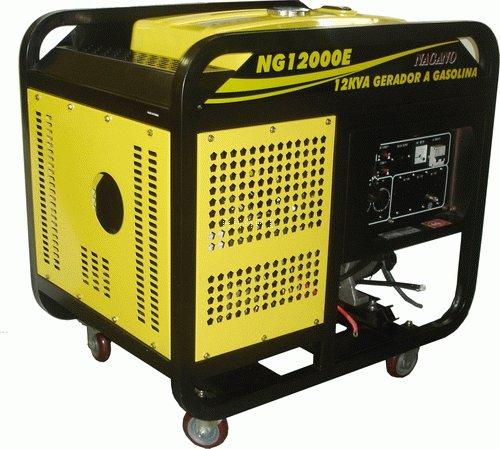 NG12000E - Gerador à gasolina 4 tempos monofásico 12 kva partida elétrica