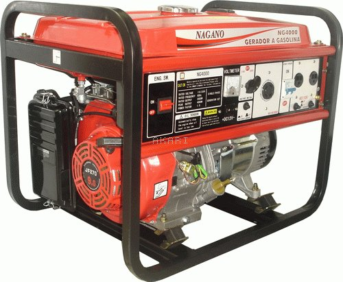 NG4000 - Gerador à gasolina 4 tempos monofásico 4 kva partida manual