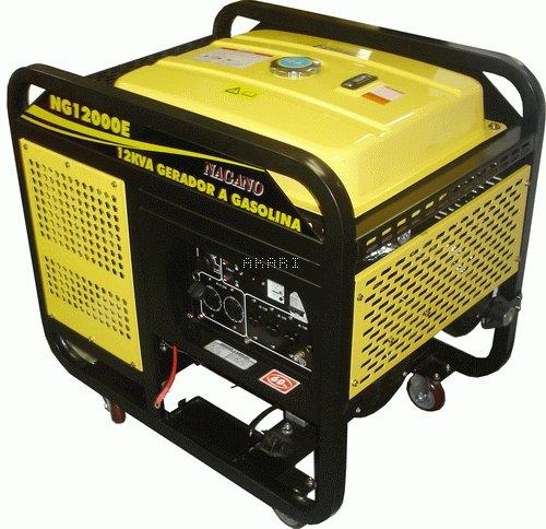 NG12000E3 - Gerador à Gasolina 4 tempos trifásico 12 kva partida elétrica