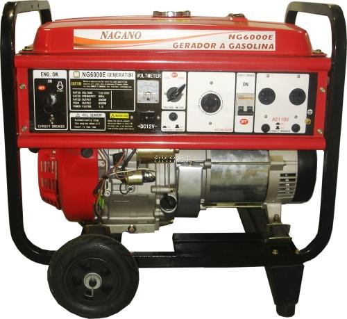NG6000E3 - Gerador à gasolina 4 tempos trifásico 6 kva partida elétrica