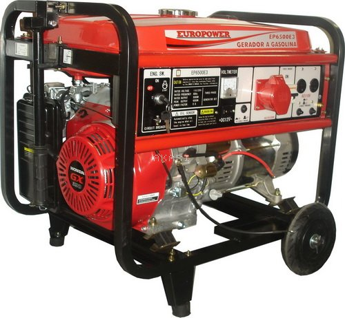EP6500E3 - Gerador à gasolina 6 kva trifásico partida elétrica motor Honda GX390