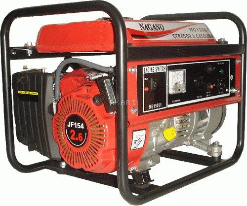 NG1500 - Gerador à gasolina monofásico 1,2 kva partida manual