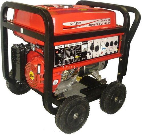 NG8000E3 - Gerador à gasolina trifásico 8 kva partida elétrica