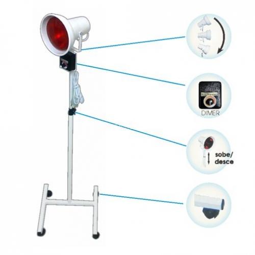 IV-05D - Suporte p/ lâmpada  com refletor móvel, regulagem de altura e dimer