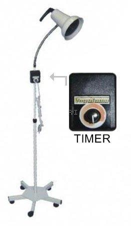 IV-06T - Suporte p/ lâmpada com refletor móvel, regulagem de altura e timer