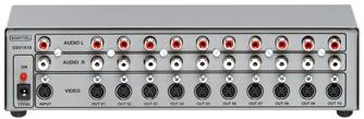 Distribuidor de SVIDEO (S-VHS) e Áudio Estéreo 1x10 Saídas - DSV1x10