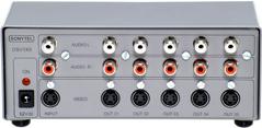 Distribuidor de SVIDEO (S-VHS) e Áudio Estéreo - 1x5 Saídas DSV1X5