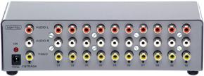 Distribuidor de Vídeo Composto e Áudio Estéreo 1x10 Saídas - DVS1000