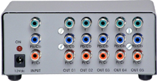 Distribuidor de Vídeo Componente 1x5 Saídas - SD1x5