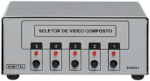 Seletor de Vídeo Composto com Áudio Estéreo - SVS5x1
