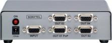 Distribuidor de Sinal VGA/SVGA 1x4 Saídas - VSS400